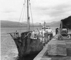 Mi Amigo at Greenore, where it was victim of sabotage